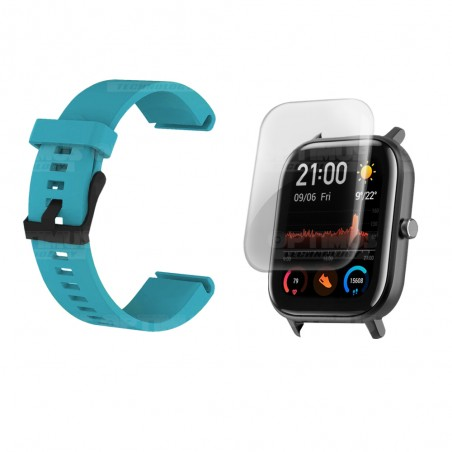 Kit Manilla Banda Y Buff Film Screen Para Reloj Smartwatch Xiaomi Amazfit GTS