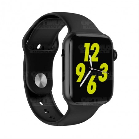 Smartwatch Reloj Inteligente OPTIMUS WATCH BLACK™ (PK W34 Iwo 10 12) Compatible Android y iPhone