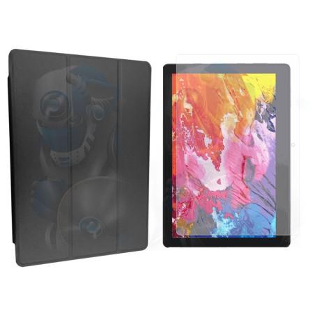 Combo Cristal Vidrio Templado Y Forro Protector Tablet Lenovo E10