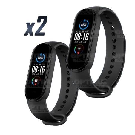 Combo Dos (2) Reloj Inteligente Smartwatch Xiaomi Mi Band 5 Mide Ritmo Cardíaco