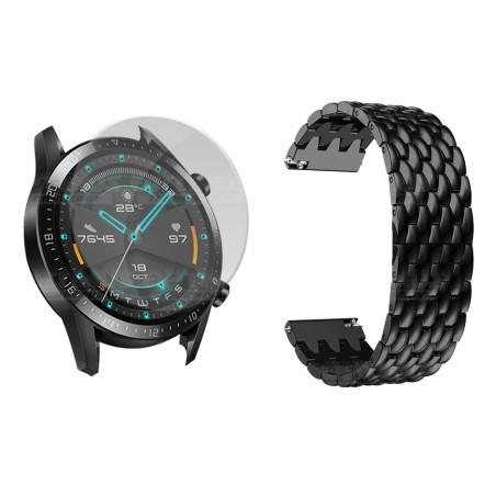 Vidrio Templado Y Correa De Metal Smartwatch Reloj Inteligente Huawei GT2 46mm