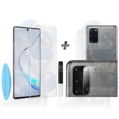 Combo Protector Vidrio UV + Cristal de Cámara Cerámico Samsung S20 Plus