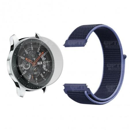 KIT Correa tipo velcro tela suave y Vidrio templado Reloj Smartwatch Samsung Galaxy Watch 46mm