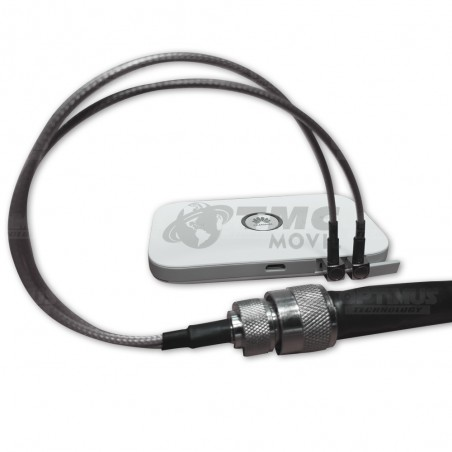 Conector Pigtail MIMO x2 TS9 para modem Internet Mifi 4G LTE (Huawei E5573s-508 - e5377) / Equipos de Telemetria