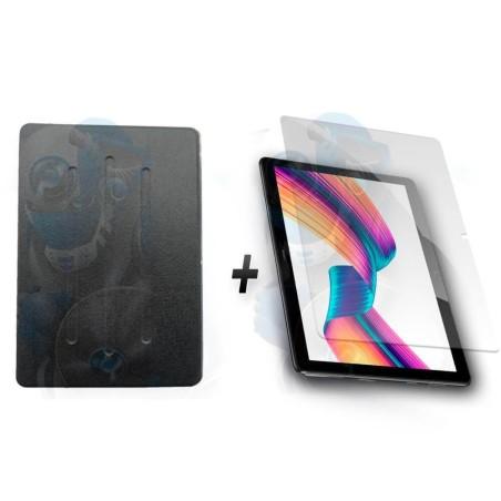 "KIT Combo Estuche Protector Folio-Cover + Vidrio Templado Protector de Huawei T3-10 9.6"""