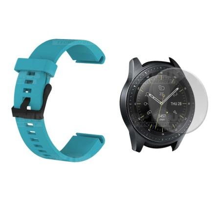 Kit Manilla Correa Y Vidrio Templado Protector Para Reloj Samsung Galaxy Watch 42mm