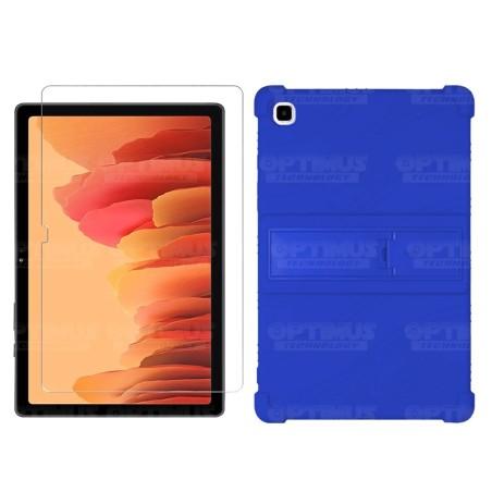 Kit Vidrio templado y Estuche Protector de goma antigolpes con soporte Tablet Samsung Galaxy Tab A7 10.4 2020 T500 - T505
