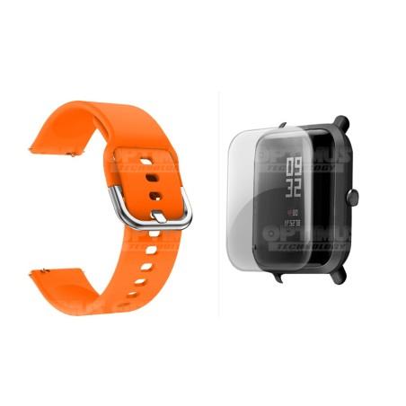 Kit Correa Manilla Banda Y Buff Screen Para Reloj Xiaomi Amazfit Bip