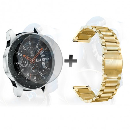 Vidrio Templado Y Correa De Metal Smartwatch Reloj Inteligente Samsung Galaxy Watch 46mm