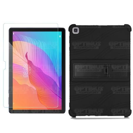 Kit Vidrio templado y Estuche Protector de goma antigolpes con soporte Tablet Huawei matepad T10