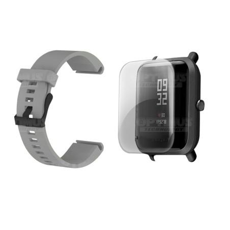 Kit Correa Pulso Y Buff Screen Para Reloj Xiaomi Amazfit Bip