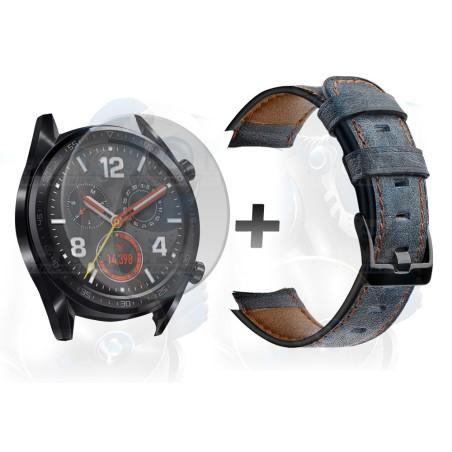Manilla Correa De Cuero Y Vidrio Smartwatch Huawei Gt 46mm