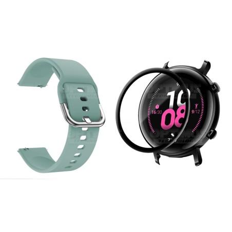 Kit Pulso Banda Y Vidrio Templado Cerámico Protector Para Reloj Huawei Gt2 42mm