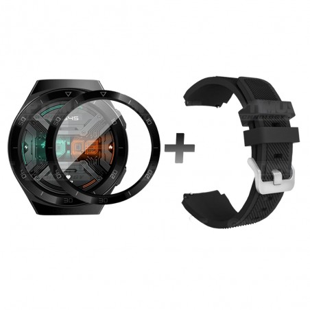 Vidrio Templado Nanoglass Y  Pulso Correa Smartwatch Reloj Inteligente Huawei Gt2E