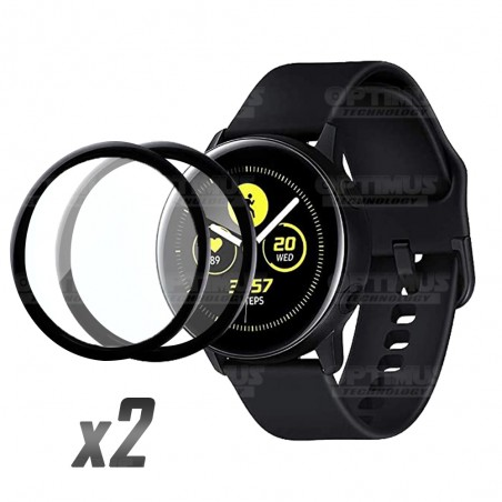 Kit 2 Unidades Vidrio Templado Protector Cerámico Para Reloj Smartwatch Samsung Galaxy Active 44mm