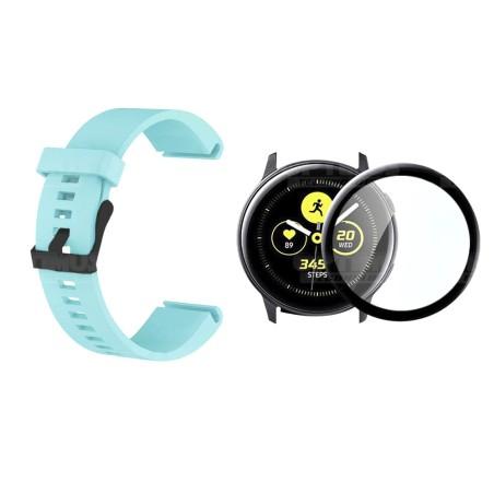 Kit Manilla Correa Y Vidrio Templado Cerámico Protector Para Reloj Samsung Galaxy Active 44mm