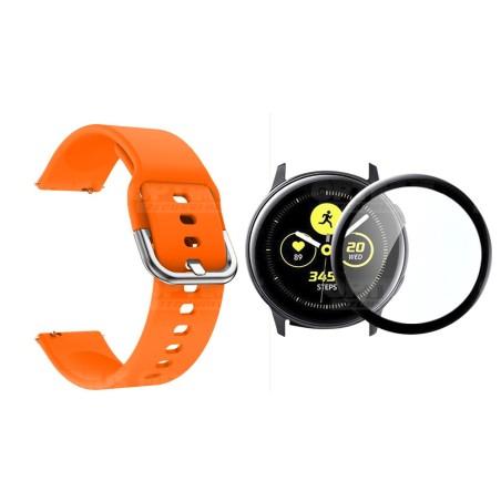 Kit Pulso Correa Y Vidrio Templado Nanoglass Protector Para Reloj Samsung Galaxy Active 40mm
