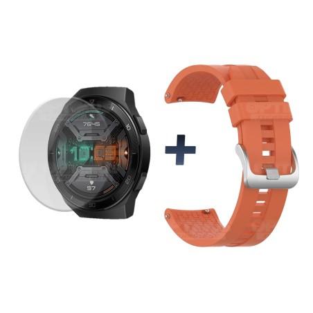 Buff Film Screen Protector Y Correa Smartwatch Reloj Inteligente Huawei Gt2E